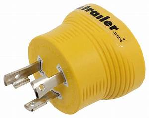 Power Grip Generator Plug Adapter For Rv Power Cord