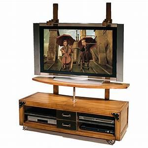 Meuble Avec Support Tv : meuble tl loft batel meuble tl pour cran plat lcd ~ Dailycaller-alerts.com Idées de Décoration