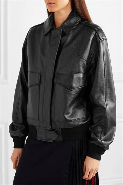 Jacket Leather Bomber Oversized Givenchy Textured Play