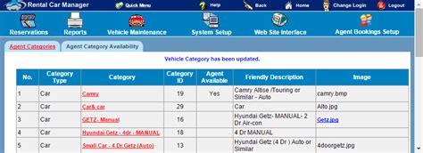 Rental Car Manager Knowledge Base