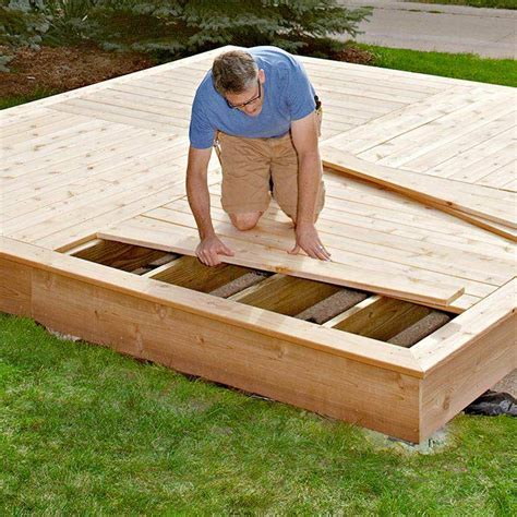 17 floating deck footings spacing shed construction
