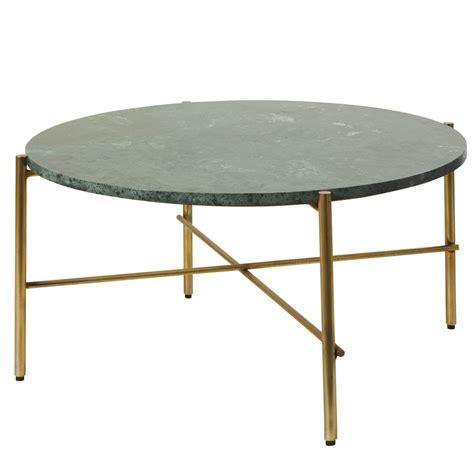 table basse marbre ronde table basse ronde en marbre vert et m 233 tal coloris laiton