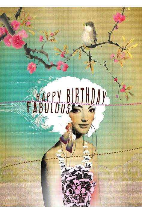 sold  discontinued fabulous birthday greeting card