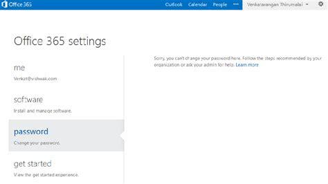 Office 365 Mail Change Password by Office 365 Password Sync Venkatarangan வ ங கடரங கன