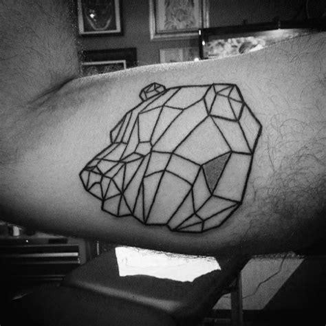 Geometric Bear Tattoo Outline