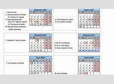 Consulta los festivos y puentes del curso escolar 2017