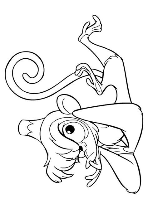 aladdin abu baby coloring pages cool coloring pages monkey coloring pages