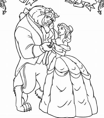 Belle Coloring Pages Beast Beauty Prince