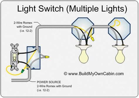 wire lights light switch wiring home