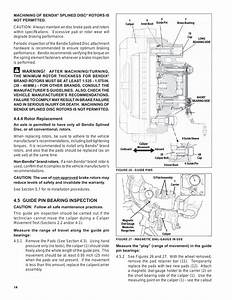 5 Guide Pin Bearing Inspection  Warning  4 Rotor
