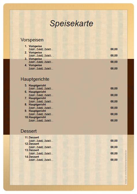 speisekarte selber erstellen vorlage kostenlos