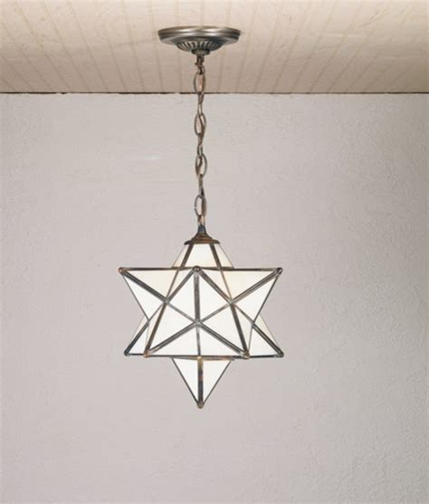 12 inch width moravian pendant ceiling fixture