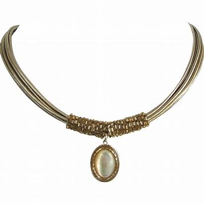 Necklace Leather Pearl Gold Jewelry Silver Contemporary
