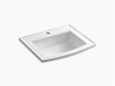 drop in bathroom sink without faucet holes archer drop in sink with single faucet k 2356 1