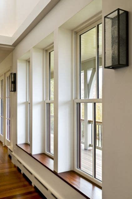 Window Casings And Sills by Deeply Recessed Windows To Give Sills Contemporary Dining