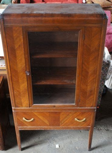 waterfall cabinets antique art deco 1940s waterfall front bakelite curio hutch china cabinet 67 quot grandmothers