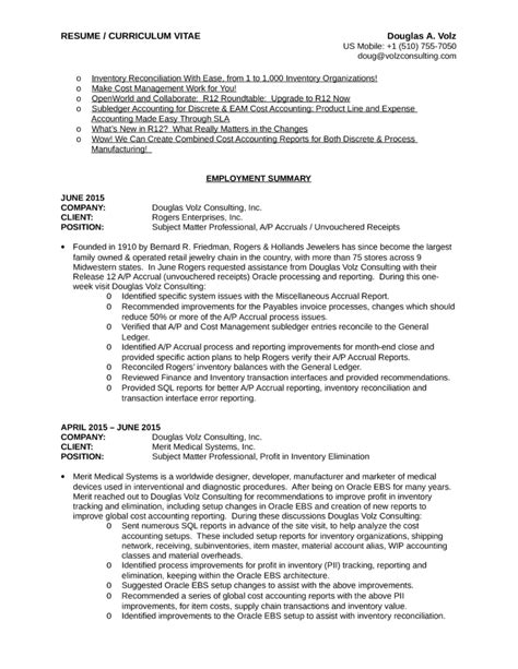 Executive Business Process Analyst Resume Template  Page 3