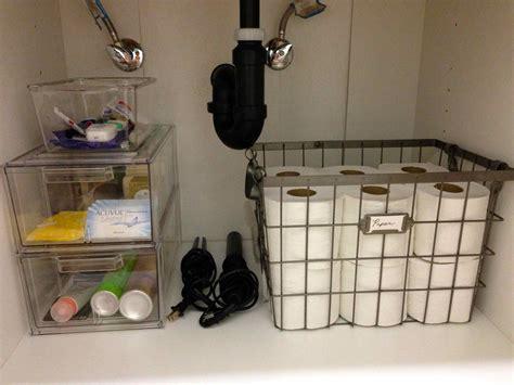 kitchen sink storage bathroom organization hacks diy