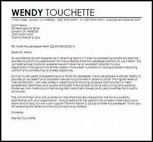 Reference Letter Sample Housekeeper