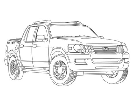 coloriage ford explorer sport trac coloriages