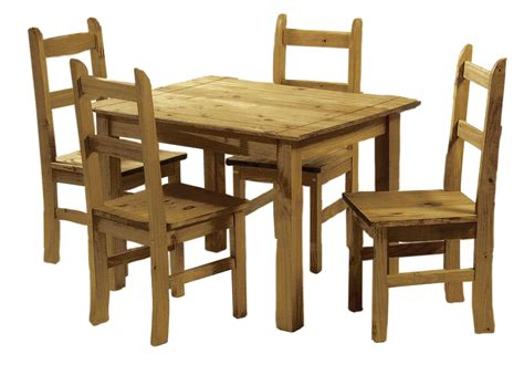 solid pine dining set table   chairs corona