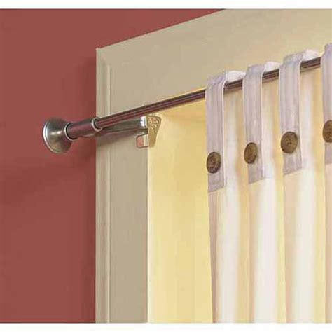 Twist And Fit Curtain Rod by Levolor Kirsch 7004244450 Satin Nickel Levolor Twist And