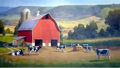 Barn Farm Barns Dairy Fields Wallpapers Clipart