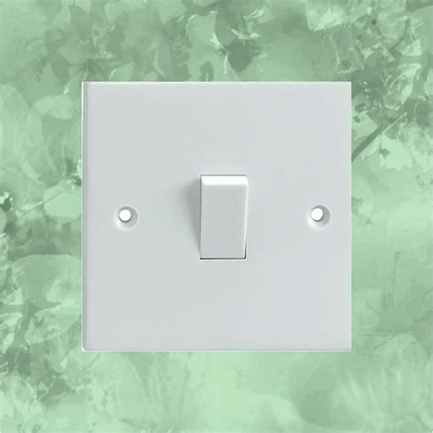 light green floral pattern light switch surround printed