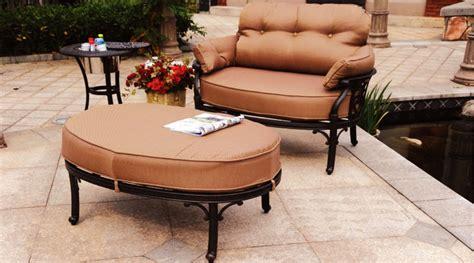patio furniture cast aluminum seating club chair