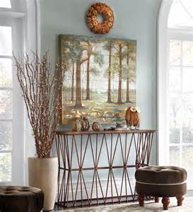 Autumn Foyer Decorating Idea Country And Traditional Entryway Décor To Greet Anyone Entering The House
