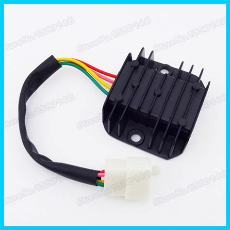 aliexpress buy 4 wire voltage regulator rectifier for gy6 moped scooter