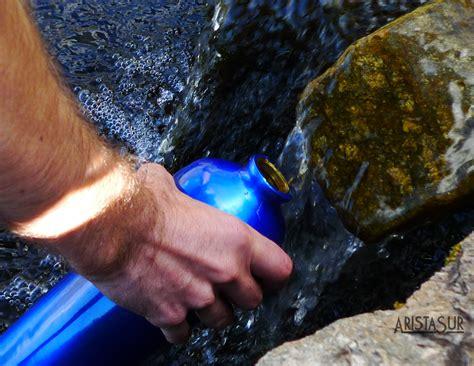 como recoger purificar  potabilizar agua en la montana