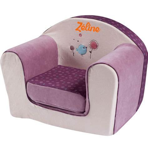 canape blanc pas cher fauteuil enfant avec prénom birdy