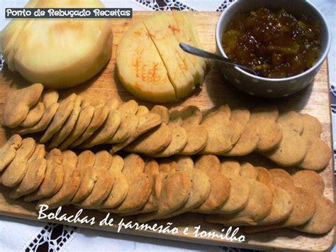 ponto de rebucado receitas bolachas de parmesao  tomilho