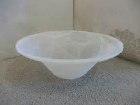 40cm white bowl replacement glass shade for uplighter l or pendant fitting ebay
