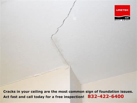 hairline cracks in ceiling and walls foundation problems houston foundation settling signs