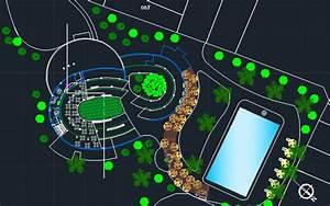 Urban Restaurant Park 2d Dwg Design Block For Autocad