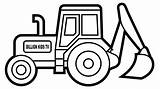 Digger Excavator Coloring Pages Tractor Drawing Backhoe Truck Draw Colouring Drawings Printable Clipart Template Inspired Entitlementtrap Kid Sheets Construction Colors sketch template