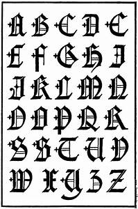famous related pictures old english fonts letter alphabet With old english gothic letters