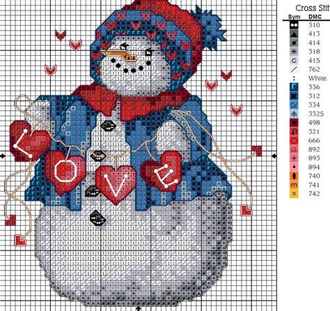 christmas tree ornament crafts snowman cross stitch kits