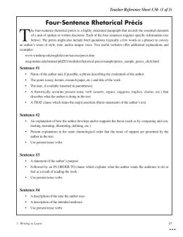 rhetorical precis template rhetorical precis template experimental vision exle 1 260 520 marevinho