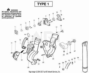 Poulan Pbv200le Gas Blower Type 1 Parts Diagram For