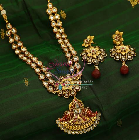traditional indian gold plated imitation jewelry  step