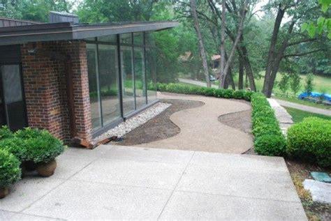 decomposed granite transition  existing concrete