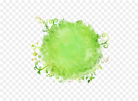 watercolor painting brush background circle png