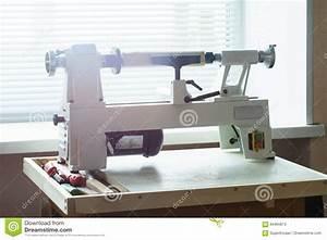 Mini Woodworking Lathe Close Up Stock Image