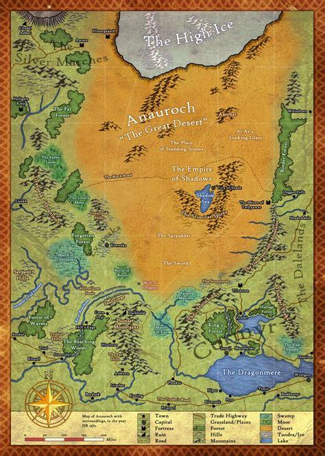 anauroch  great desert  charle magne fantasy map