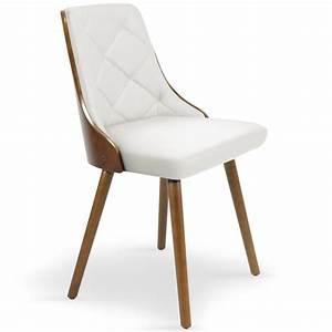 Chaise Bois Scandinave : chaises scandinaves effet cuir bois noisette blanc lot ~ Teatrodelosmanantiales.com Idées de Décoration