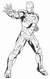 Avengers Coloring Iron Ironman sketch template