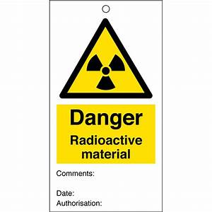 Radioactive Material Safety Tags 80mm x 150mm Pack of 10 ...